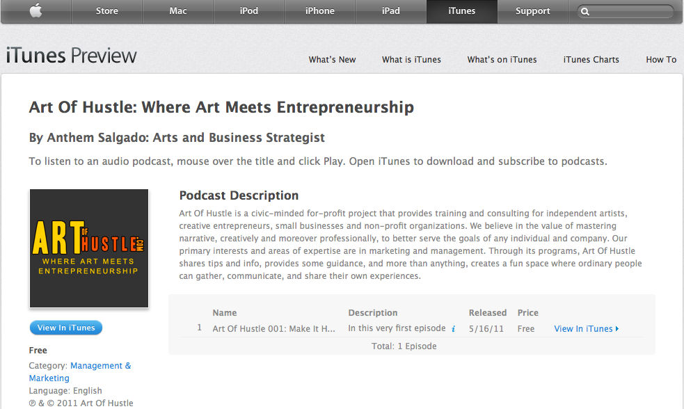 Art Of Hustle podcast debuts on iTunes! - Art of Hustle